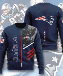 national football league new england patriots go pats full printing ugly sweater 4