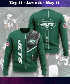 national football league new york jets go jets full printing ugly sweater