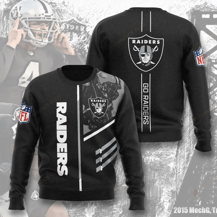 national football league oakland raiders go raiders full printing ugly sweater 2