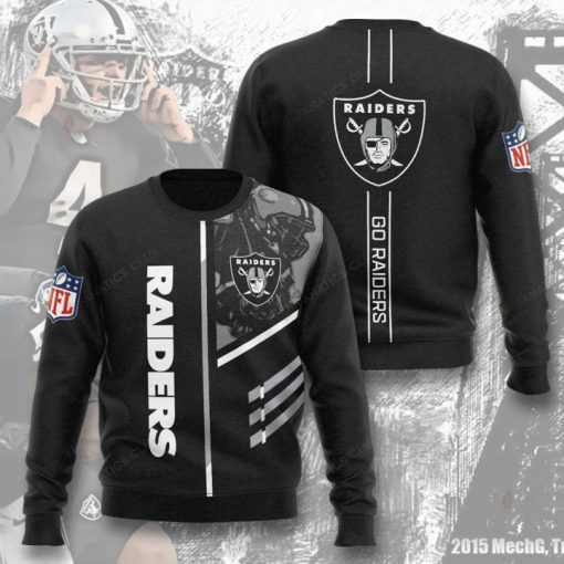 national football league oakland raiders go raiders full printing ugly sweater 5