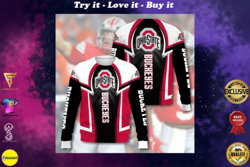 national football league ohio state buckeyes full printing ugly sweater