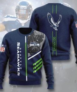 national football league seattle seahawks go hawks full printing ugly sweater 2