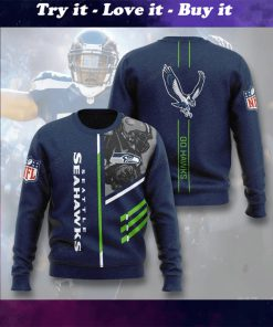 national football league seattle seahawks go hawks full printing ugly sweater