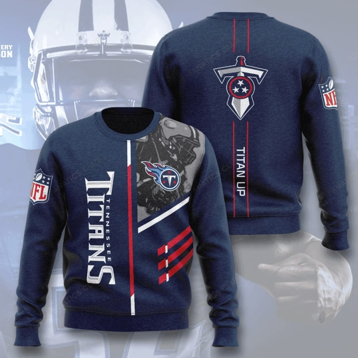 national football league tennessee titans titan up full printing ugly sweater 3
