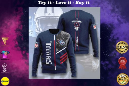 national football league tennessee titans titan up full printing ugly sweater