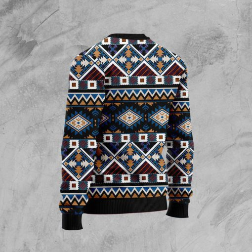 native american horses full printing pattern christmas ugly sweater 4