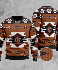 native american tribes full printing christmas ugly sweater 2