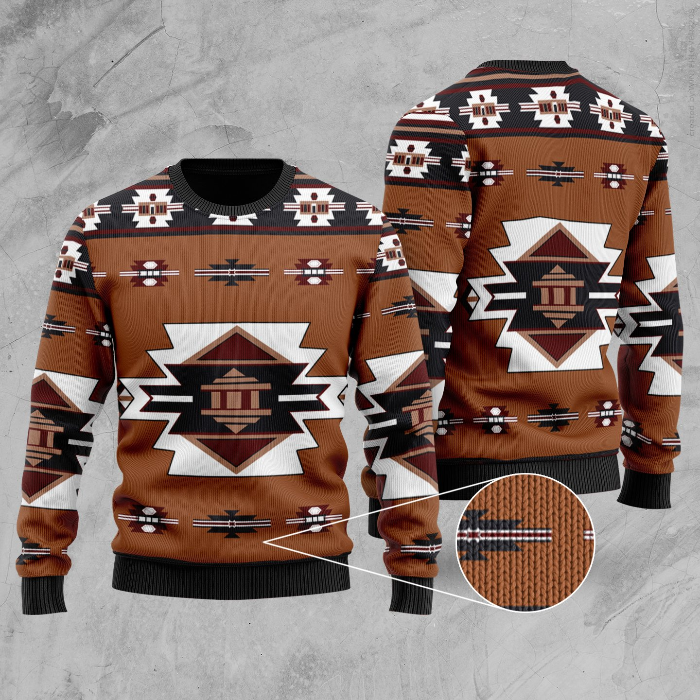 native american tribes full printing christmas ugly sweater 5