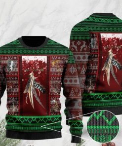 native americans on christmas days pattern full printing ugly sweater 2 - Copy