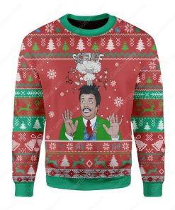 neil degrasse tyson science big bang all over printed ugly christmas sweater 3