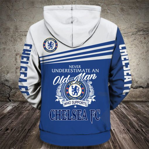 never underestimate an old man who supports chelsea fc full printing hoodie 1