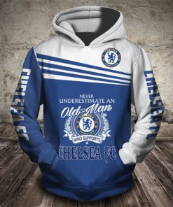 never underestimate an old man who supports chelsea fc full printing shirt 1
