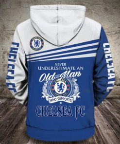 never underestimate an old man who supports chelsea fc full printing shirt 2