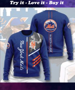 new york mets ya gotta believe full printing ugly sweater