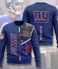 nfl new york giants go big blue full printing ugly sweater 5