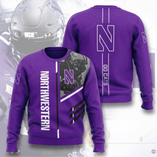 northwestern wildcats football go cats full printing ugly sweater 2