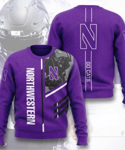 northwestern wildcats football go cats full printing ugly sweater 4