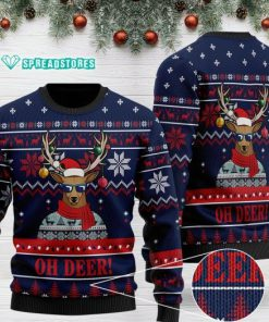 oh deer pattern full printing christmas ugly sweater 2 - Copy