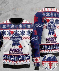 pabst blue ribbon full printing ugly sweater 2 - Copy