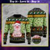 piggy with christmas light full printing ugly sweater