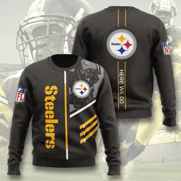 pittsburgh steelers here we go full printing ugly sweater 2