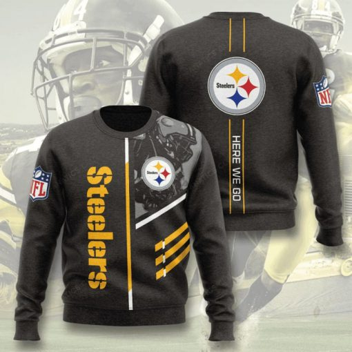 pittsburgh steelers here we go full printing ugly sweater 3