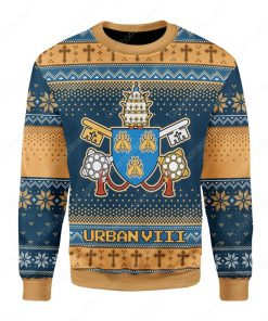 pope urban viii maffeo barberini all over printed ugly christmas sweater 2