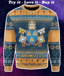 pope urban viii maffeo barberini all over printed ugly christmas sweater