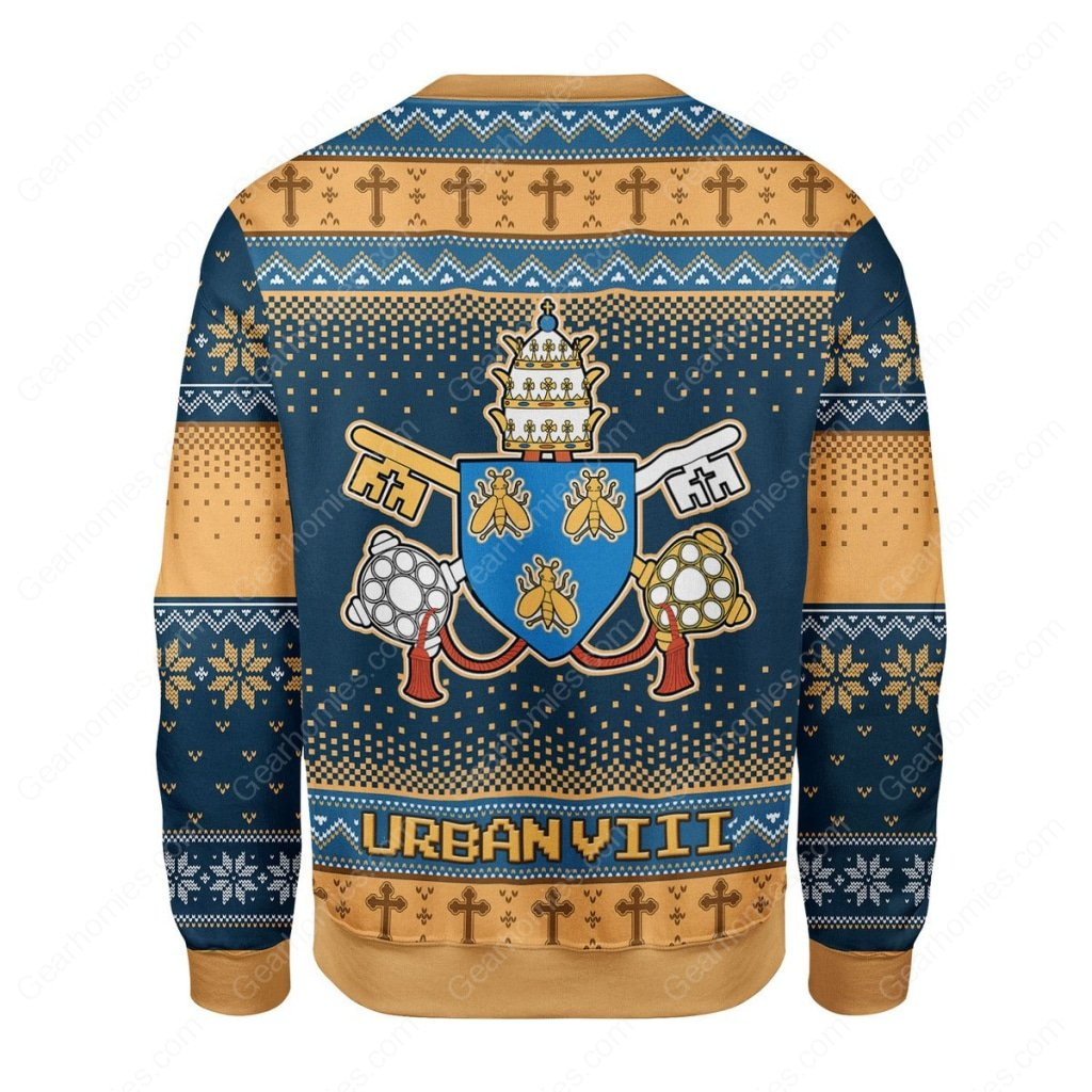 pope urban viii maffeo barberini all over printed ugly christmas sweater 4