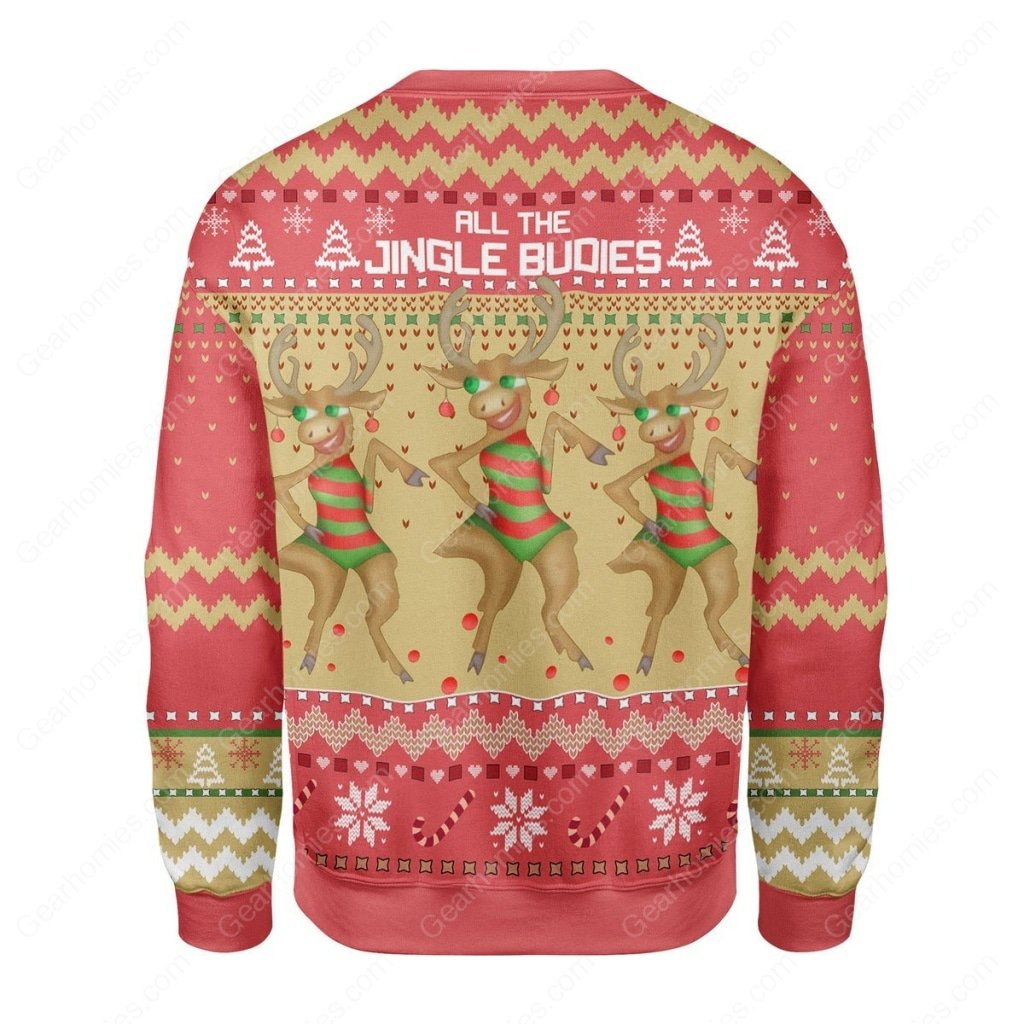reindeer all the single budies all over printed ugly christmas sweater 4
