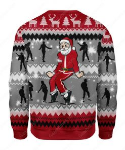 santa claus dancing michael jackson all over printed ugly christmas sweater 4