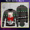 santa pig pattern full printing christmas ugly sweater