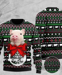 santa pig pattern full printing christmas ugly sweater 2 - Copy (3)