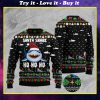 santa shark ho ho ho pattern full printing christmas ugly sweater