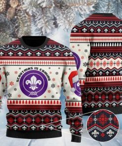 scoutmas is coming full printing christmas ugly sweater 2
