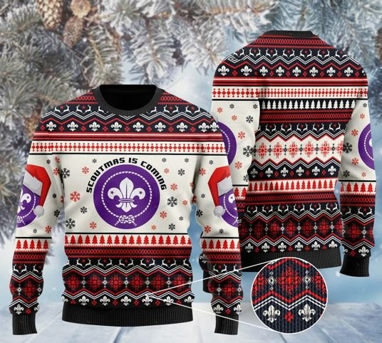 scoutmas is coming full printing christmas ugly sweater 2 - Copy (2)