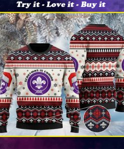 scoutmas is coming full printing christmas ugly sweater