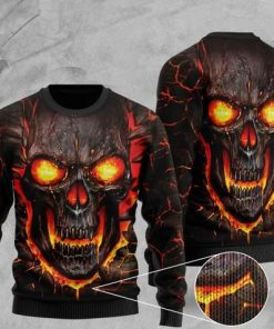 skull lava fire all over printed christmas ugly sweater 2 - Copy (2)