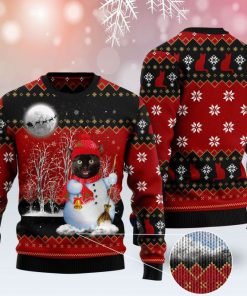 snowman cat pattern full printing christmas ugly sweater 2 - Copy