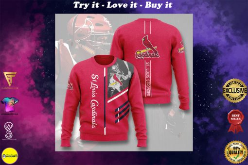 st louis cardinals st louis stronger full printing ugly sweater
