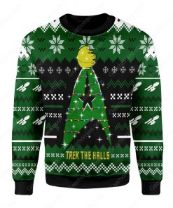 star trek trek the halls all over printed ugly christmas sweater 2