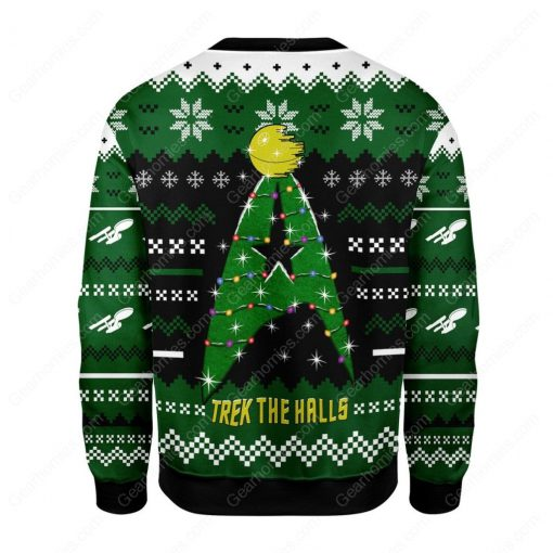 star trek trek the halls all over printed ugly christmas sweater 4