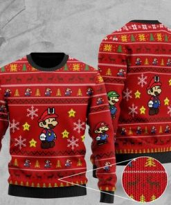 super mario all over printed christmas ugly sweater 2 - Copy