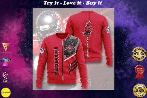 tampa bay buccaneers fire the cannons full printing ugly sweater