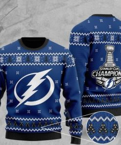 tampa bay lightning 2020 stanley cup champions christmas ugly sweater 2