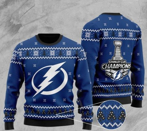 tampa bay lightning 2020 stanley cup champions full printing ugly sweater 2 - Copy