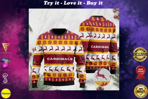 the arizona cardinals football team christmas ugly sweater