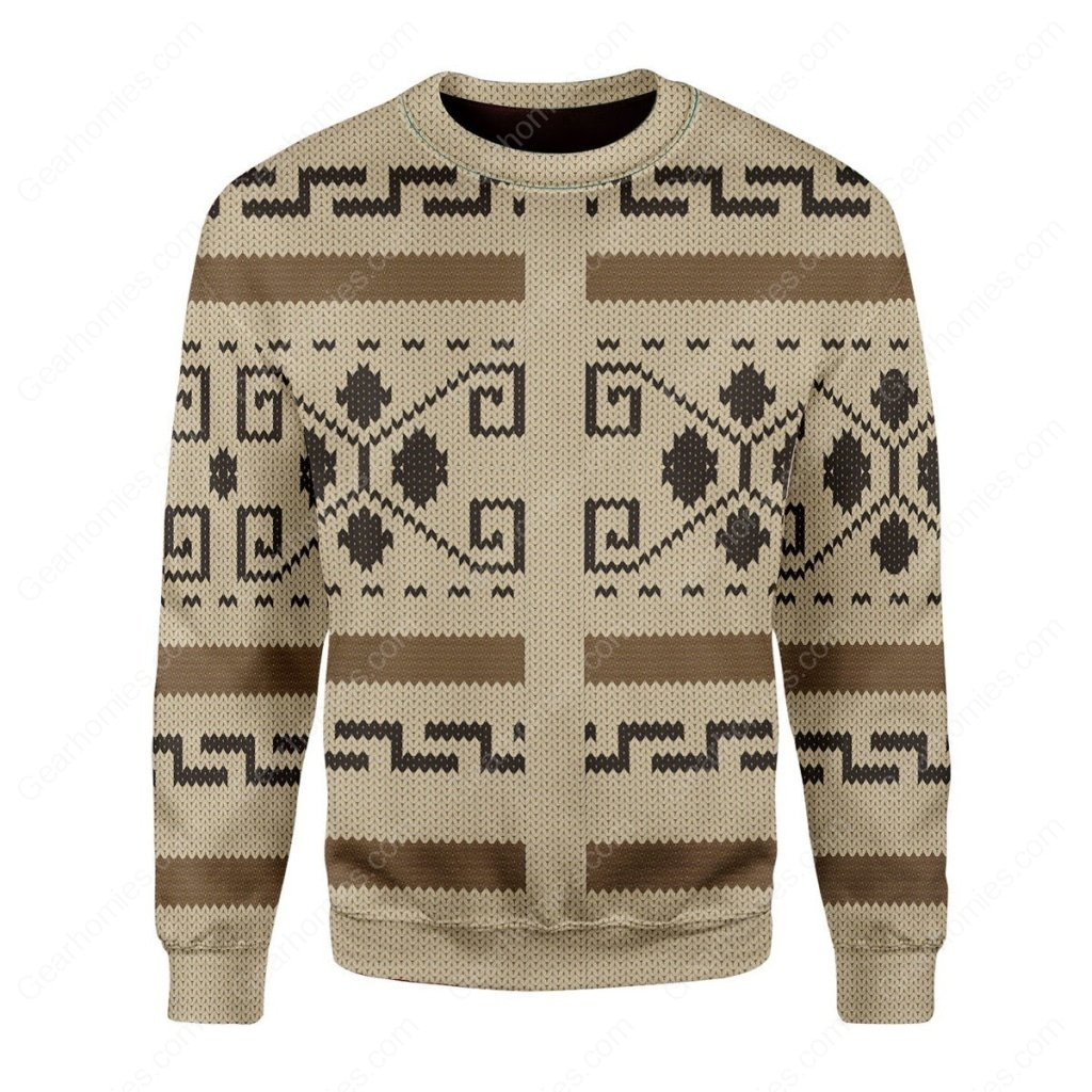 the big lebowski all over printed ugly christmas sweater 2