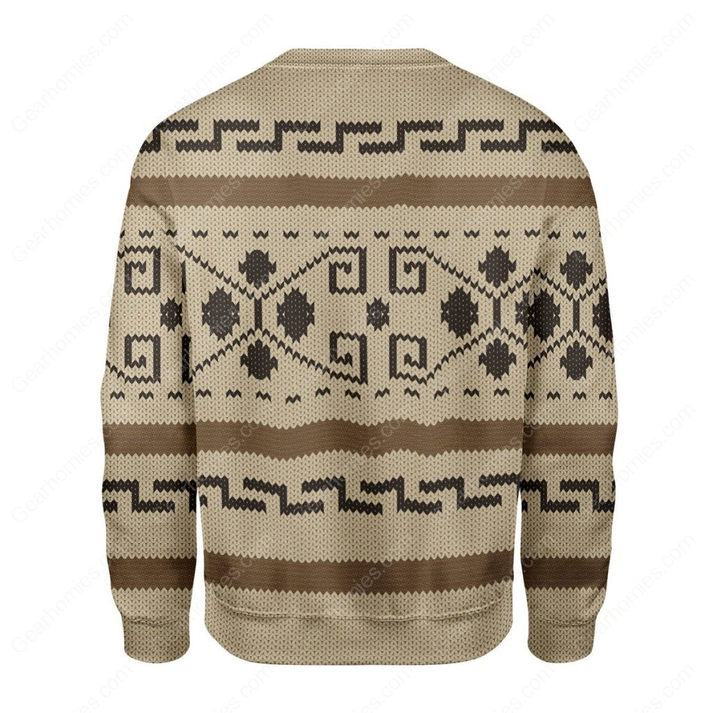 the big lebowski all over printed ugly christmas sweater 5