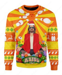 the big lebowski hippie all over printed ugly christmas sweater 3